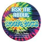 "Digitally Printed Round Celluloid Button w/ Safety Pin Back (2 1/2"") Personalized"