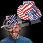Customized Stars and Stripes Cowboy Hat