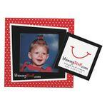 Logo Branded Square Punch Out Picture Frame Magnet