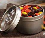 Standard Jelly Beans in Small Round Window Tin Custom Imprinted