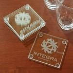 Logo Branded Economy Glass Coaster Set