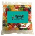 Custom Printed Business Card Magnet w/Large Bag of Jelly Bellys