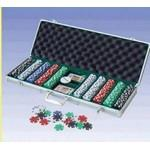 500 Piece Dice Poker Chips W/ Aluminum Poker Set (Screened) Logo Printed