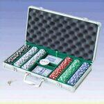 300 Piece Dice Poker Chips W/ Aluminum Poker Set (Screened) Custom Personalized