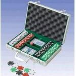 Custom Printed 200 Piece Dice Poker Chips W/ Aluminum Poker Set (Screened)