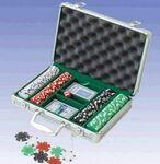 Promotional 200 Piece Dice Poker Chips W/ Aluminum Poker Set (Screened)