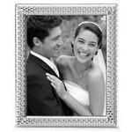 Reed & Barton Watchband Silver Plate 8 X 10 Picture Frame Custom Imprinted