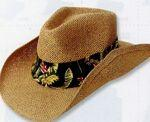 Custom Imprinted Cowboy Shape High Density Paper Straw Hat