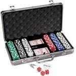 300 Piece Titanium Poker Set Custom Imprinted