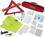 34 Pc Auto Safety First Aid Kit Custom Imprinted