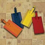 Majestic™ Leather Luggage Tag Logo Branded