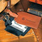 Grand Central Luggage Tag (Sueded Full-Grain Leather) Logo Branded