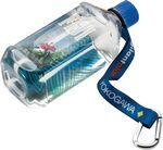"3/4"" RPET Dye Sublimated Water Bottle Strap with Carabiner Custom Printed"