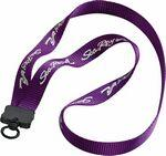 "3/4"" Smooth Nylon Lanyard w/ Plastic Clamshell and O-Ring Custom Imprinted"