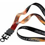 "3/4"" Polyester Dye Sublimated Lanyard w/ Plastic Snap Buckle Release & O-Ring Custom Printed"