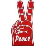 Custom Printed Stock Peace Sign Foam Hand Mitt