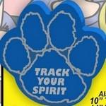 "Custom Printed Paw Print Foam Hand Mitt w/Outlined Pads (10"")"