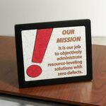 Framed Desk Plaque Logo Branded