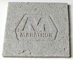 Logo Branded Square Concrete Textured Coaster