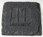 Logo Branded Square Slate Textured Coaster