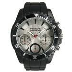 Men's Pedre Chronograph Black Sport Watch with Silver Dial Logo Printed