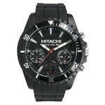 Men's Chronograph Black Sport Watch W/ Black Textured Dial Branded