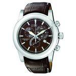 Custom Imprinted Citizen Men's Eco Drive Chronograph Leather Strap Watch from Pedre