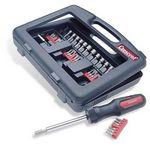 Promotional Crescent® 34 Pc. Dura-Driver™ Ratcheting Screwdriver Kit