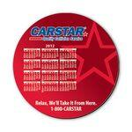 "Custom Printed Mouse Pad - 8"" Round Hard Top Custom Calendar Mouse Pad with 1/8"" Thick Rubber Base"