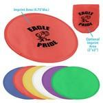 "9.75"" Pop-up Flying Disc w/ Pouch Custom Imprinted"