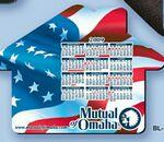 "Custom Imprinted Mouse Pad - House Shape Hard Top Custom Printed Calendar Mouse Pad 1/16"" Rubber Base"