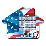 "Promotional Mouse Pad - House Shape Hard Top Custom Printed Calendar Mouse Pad 1/8"" Rubber Base"