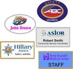 Full Color Name Badges Logo Branded