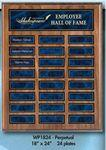 Custom Etched Perpetual Walnut Finish Plaque w/ 24 Plates