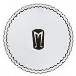 "3-3/8"" Round, Multi-Ply Cellulose Coaster W/Poly-seal Backing Logo Branded"