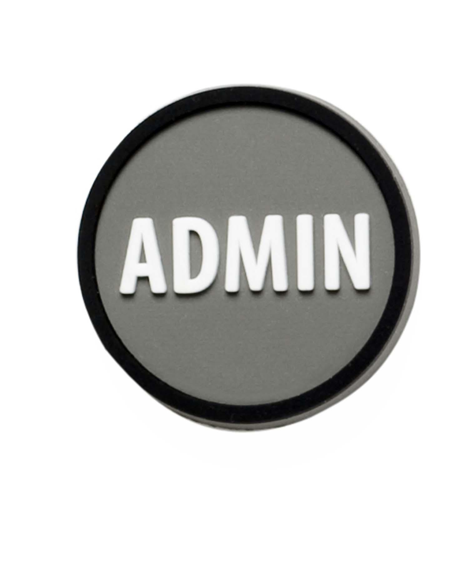 logo branded admin tag along pre decorated