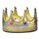 "Gold Crown w/ Jewel Stones (4 1/2"" High) Logo Branded"