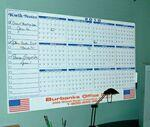 Personalized Premium Plastic Write-on/ Wipe-off Year-at-a-Glance Calendar (Horizontal)