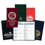 Monthly Planner w/ Castillion Vinyl Cover (1 Color Insert) Custom Printed