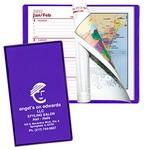 Custom Imprinted Ultra Vibrant TEK Translucent Vinyl Weekly Planner w/ 1 Color Insert & Gilded Edges