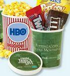 Logo Branded Movie Theater Tub - Butter Popcorn w/ Lid