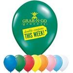 "9"" Qualatex Round Standard Color Latex Balloon Custom Imprinted"