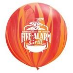 "30"" SuperAgate Rainbow Giant Latex Balloon Custom Imprinted"
