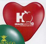 "15"" Qualatex Heart Standard Color Latex Balloon Custom Imprinted"
