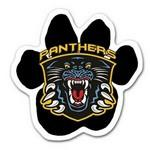 Full Color Paw Shaped Car Magnet Logo Printed
