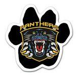 Full Color Paw Shaped Car Magnet Branded