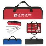 3-Piece BBQ Set In Case Logo Branded