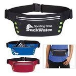 Custom Embroidered Running Belt With Safety Strip And Lights