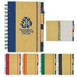 "5"" x 7"" Eco-Inspired Spiral Notebook & Pen Custom Imprinted"