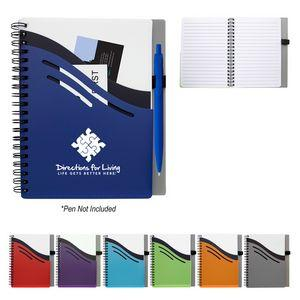 "Custom Imprinted 5"" x 7"" Double Dip Spiral Notebook"
